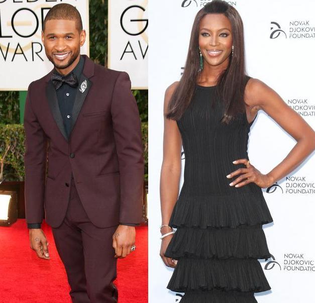 Usher & Naomi Campbell