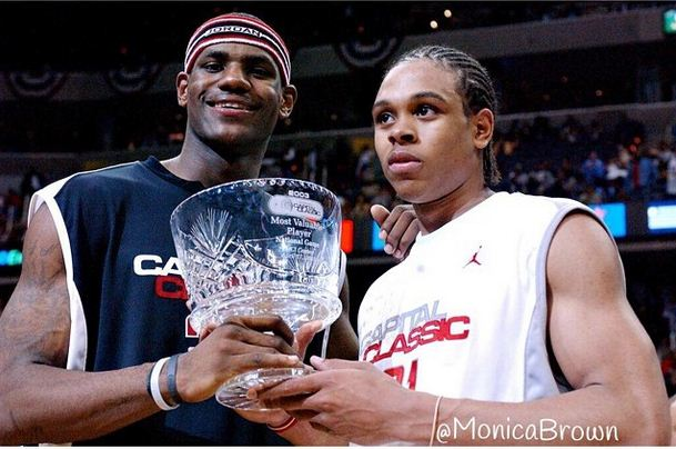 LeBron James and Shannon Brown