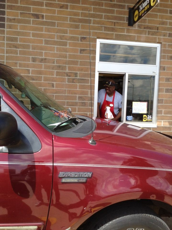 J. Anthony Brown at the McDonald's drive-thru in Jackson, MS.