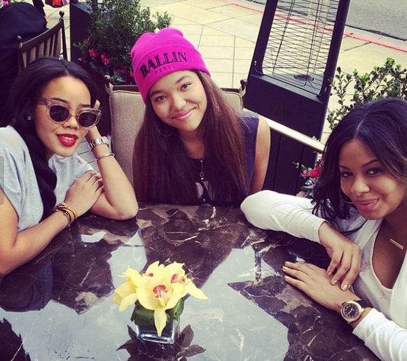 Angela and Vanessa Simmons and Ming Lee