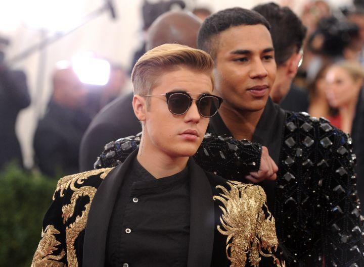 Justin Bieber and designer Oliver Rousteing