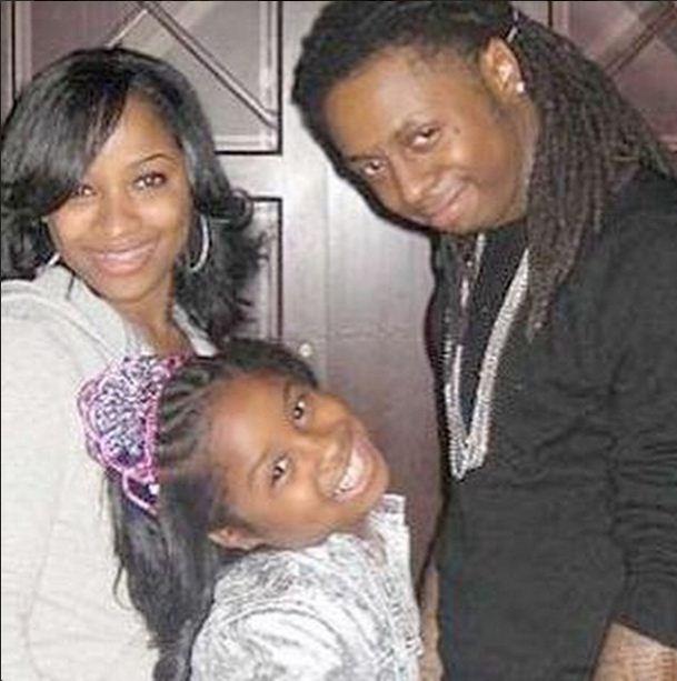Toya Wright, Lil Wayne and Reginae Carter