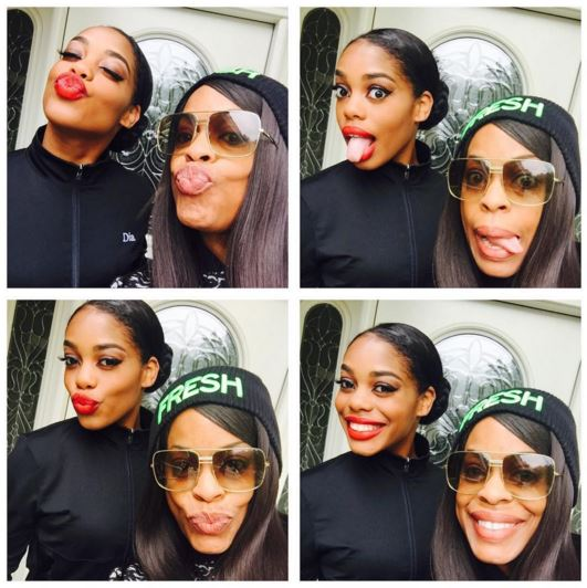 Niecy Nash and her youngest daughter