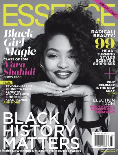Yara Shahidi covered one of the three February issues of Essence Magazine