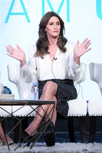 """Caitlyn Jenner participates in E!'s """"I Am Cait"""" panel at the NBCUniversal Winter TCA on Thursday, Jan. 14, 2016, Pasadena, Calif. (Photo by Richard Shotwell/Invision/AP)"""