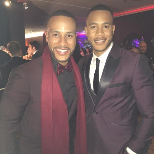 Devon Franklin and Trai Byers at the official after party.