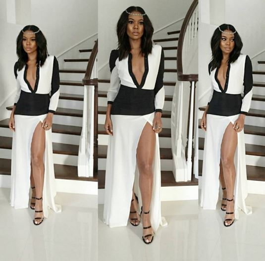 Gabrielle Union on her way to the official after party.
