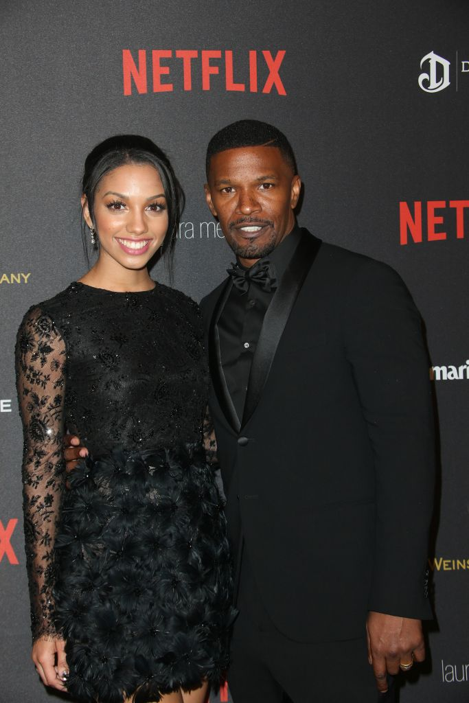 01/10/2016 - Corinne Bishop, Jamie Foxx - 2016 Weinstein Company and Netflix Golden Globes After Party - Arrivals - The Beverly Hilton Hotel - Beverly Hills, CA, USA - Keywords: Vertical, Social Event, Portrait, Photography, Arts Culture and Entertainment, Attending, Celebrities, Celebrity, Person, People, Topix, Bestof, 73rd Golden Globe Awards, 73rd Annual Golden Globe Awards Afterparty, Los Angeles, California Orientation: Portrait Face Count: 1 - False - Photo Credit: PRPhotos.com - Contact (1-866-551-7827) - Portrait Face Count: 1