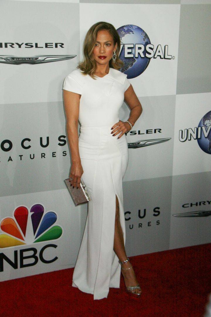 Jennifer Lopez at the Golden Globes after party.