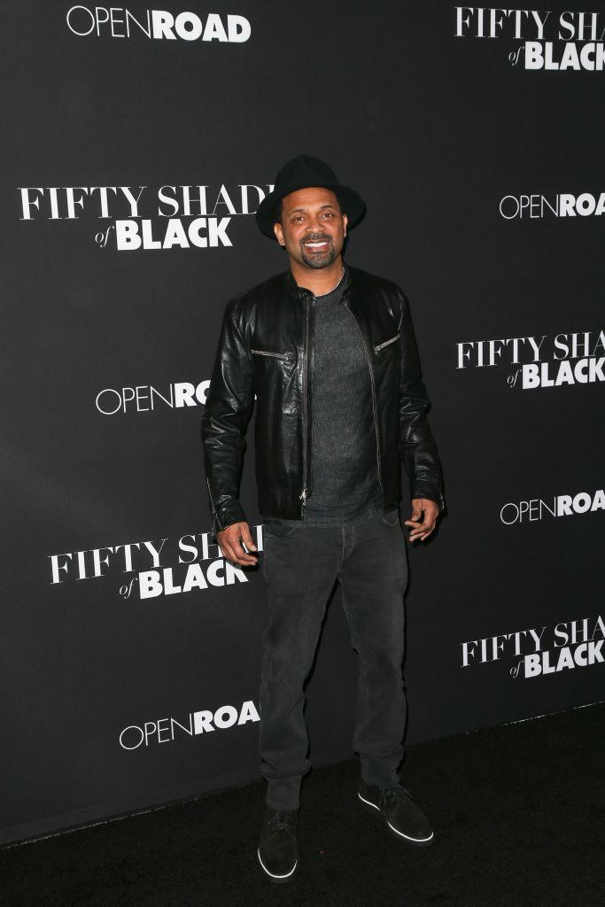 """01/26/2016 - Mike Epps - """"Fifty Shades of Black"""" Los Angeles Premiere - Arrivals - Regal Cinemas L.A. Live - Los Angeles, CA, USA - Keywords: Vertical, Film Premiere, Movie Premiere, Portrait, Photography, Film Industry, Arts Culture and Entertainment, Attending, Celebrities, Celebrity, Person, People, Regal Entertainment Group, Topix, Bestof, LA Live, Open Roads Films, """"50 Shades of Black"""", Event, California Orientation: Portrait Face Count: 1 - False - Photo Credit: PRPhotos.com - Contact (1-866-551-7827) - Portrait Face Count: 1"""