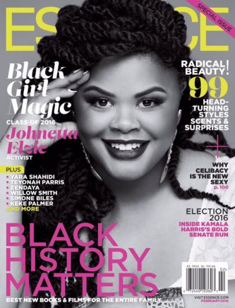 Netta covered one of the three February issues of Essence Magazine