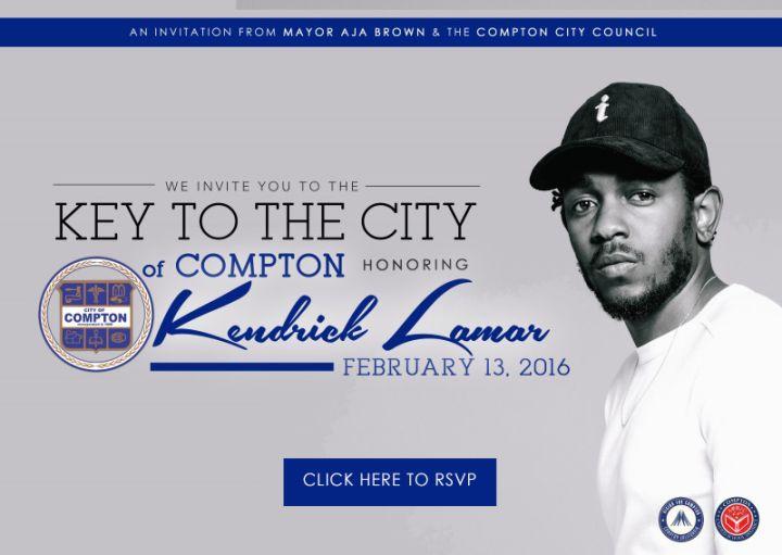 Kendrick Lamar Receives Key To Compton