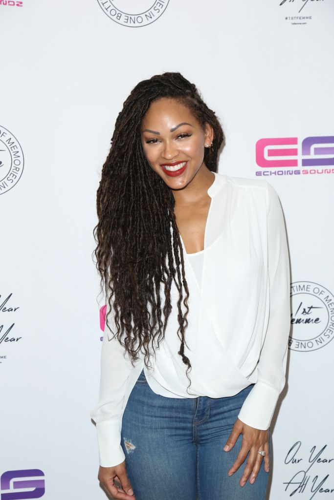 """02/11/2016 - Meagan Good - 1st Femme """"Our Year All Year"""" Fragrance Launch Hosted by La'Myia Good - Arrivals - The London West Hollywood at Beverly Hills, 1020 N San Vicente Boulevard - West Hollywood, CA, USA - Keywords: Vertical, Arts Culture and Entertainment, Attending, Adult, Celebrity, Celebrities, Person, People, Portrait, Photograph, Photography, Launch Event, 1st Femme OYAY Fragrance Launch Party Hosted by Lamyia Good, """"Our year.ALL year"""", OYAY, 1st femme eau de parfum by par siren perfume, floral fragrance for women, Eau de Cologne Spray, scent, EDP, Los Angeles, California Orientation: Portrait Face Count: 1 - False - Photo Credit: Guillermo Proano / PR Photos - Contact (1-866-551-7827) - Portrait Face Count: 1"""