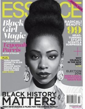 Teyonah Parris covered one of the three February issues of Essence Magazine