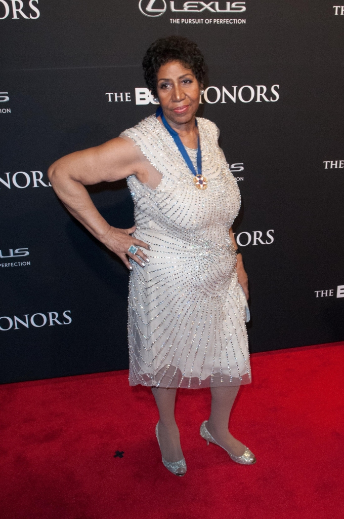 02/08/2014 - Aretha Franklin - BET Honors 2014 - Arrivals - The Warner Theater - Washington, DC, USA - Keywords: full length shot, music, singer, dress Orientation: Portrait Face Count: 1 - False - Photo Credit: Aaron J. Thornton / PR Photos - Contact (1-866-551-7827) - Portrait Face Count: 1