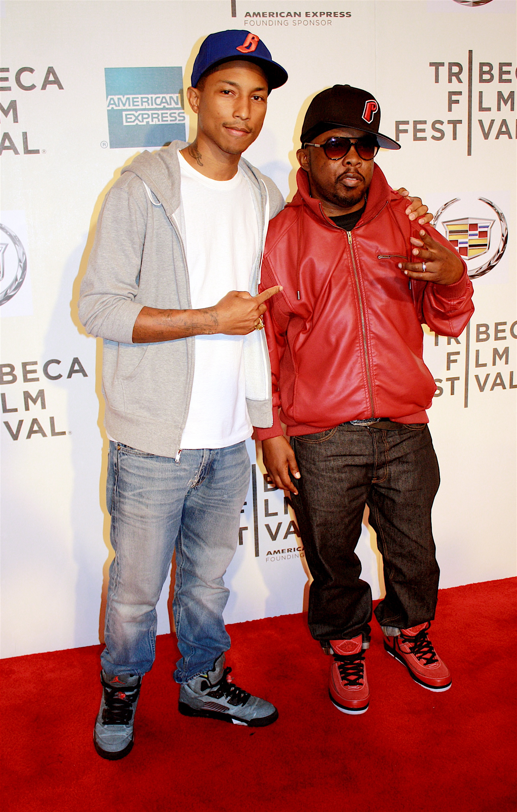 """04/27/2011 - Pharrell Williams and Phife Dawg - 10th Annual Tribeca Film Festival - """"Beats, Rhymes & Life: The Travels of a Tribe Called Quest"""" Premiere - Arrivals - Tribeca Performing Arts Center - New York City, NY, USA - Keywords: Malik Issac Taylor, Tribe Called Quest, Q Tip, Phife Dawg, Tribeca Film Festival, Beats, Rhymes and Life, Pharrell Wiliams, N.E.R.D Orientation: Portrait Face Count: 1 - False - Photo Credit: Hollie Jones / PR Photos - Contact (1-866-551-7827) - Portrait Face Count: 1"""