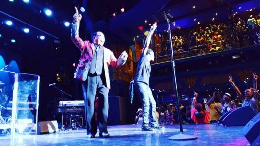 Bobby Jones and Charles Jenkins at the Dennys Gospel Explosion