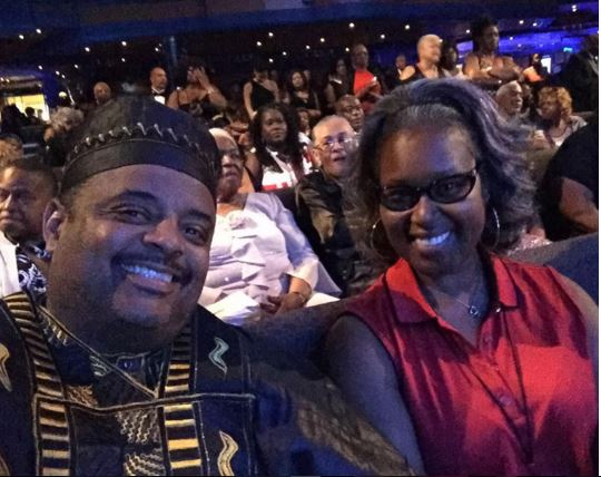 Roland Martin and his wife Jacquie at Sneaker Formal night
