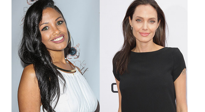 KD Aubert and Angelina Jolie