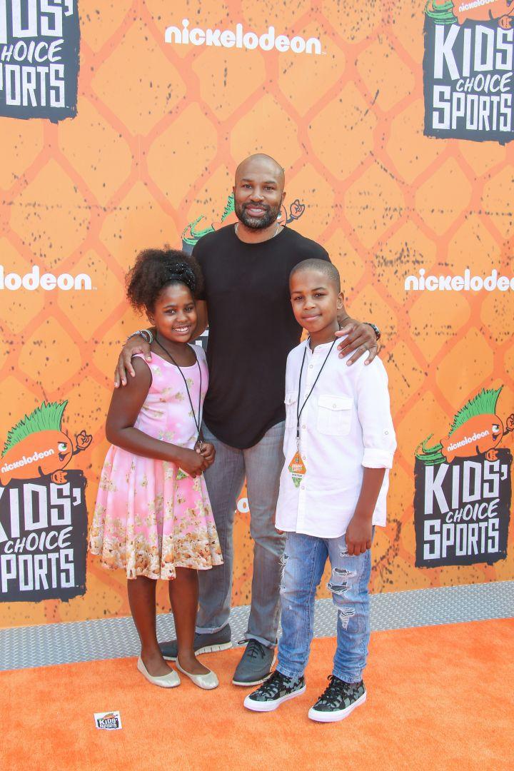 Derek Fisher and his kids