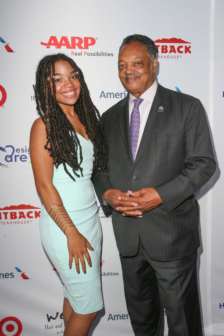Jesse Jackson and his daughter