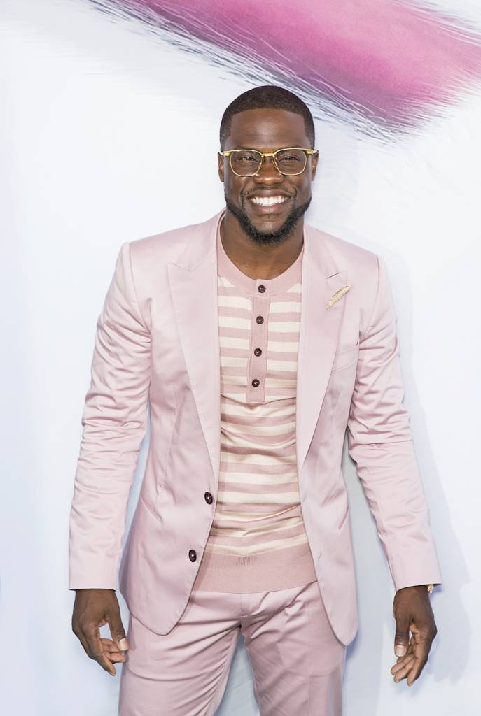 "06/25/2016 - Kevin Hart  - ""The Secret Life of Pets"" New York City Premiere - Arrivals - David H. Koch Theater at Lincoln Center - New York City, NY, USA - Keywords: comedic actor, stand-up comedian, performer, glasses, facial hair, pale pink sports jacket and striped t-shirt with buttons, plays role of ""Snowball,""  Universal Pictures and Illumination Entertainment presentation, clever, funny, comedy, culture, movie, animals, humans, casual attire  Orientation: Portrait - False - Photo Credit: Laurence Agron / PRPhotos.com - Contact (1-866-551-7827) - Portrait"
