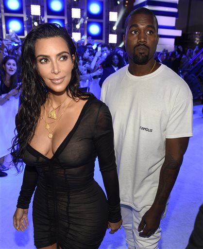 Kanye and Kim Kardashian West