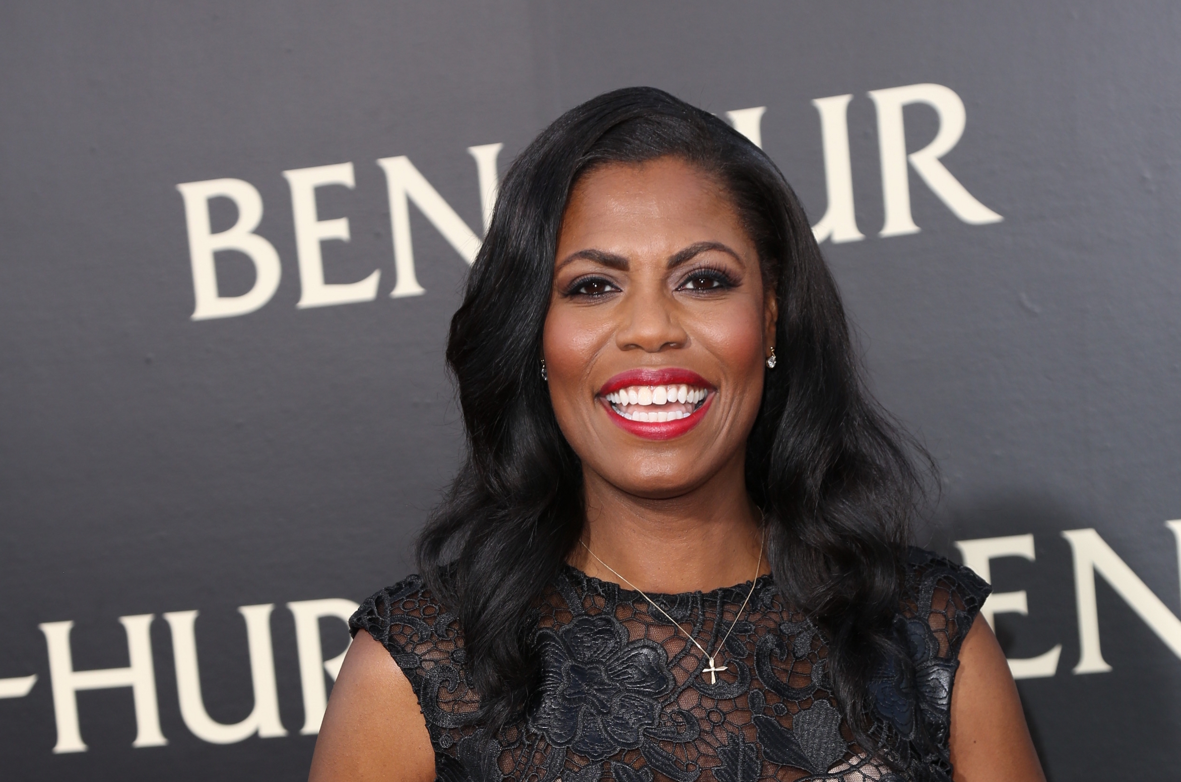 "08/16/2016 - Omarosa Manigault - ""Ben-Hur"" Los Angeles Premiere - Arrivals - TCL Chinese Theatre IMAX, Hollywood & Highland, 6925 Hollywood Boulevard - Hollywood, CA, USA - Keywords: Vertical, Adventure, Drama, Movie Premiere, Red Carpet Event, Arrival, Attending, People, Person, Portrait, Photography, Film Industry, Arts Culture and Entertainment, Celebrity, Celebrities, TCL Chinese Theater, LightWorkers Media, Metro-Goldwyn-Mayer (MGM), Paramount Pictures See, Los Angeles California Orientation: Portrait Face Count: 1 - False - Photo Credit: Guillermo Proano / PR Photos - Contact (1-866-551-7827) - Portrait Face Count: 1"