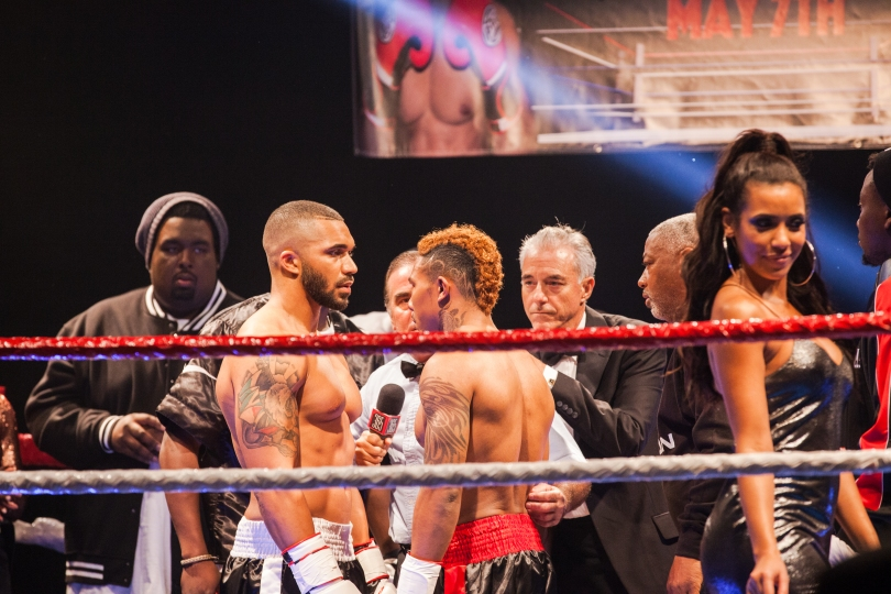 """On the set of TV One's """"Ringside"""" in Sylmar, CA."""