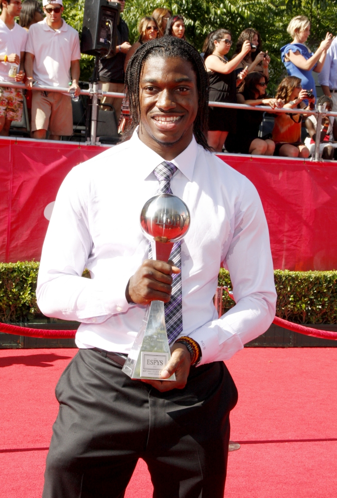 07/11/2012 - Robert Griffin III - 2012 ESPY Awards - Arrivals - Nokia Theatre L.A. Live - Los Angeles, CA, USA - Keywords:  Orientation: Portrait Face Count: 1 - False - Photo Credit: David Gabber / PR Photos - Contact (1-866-551-7827) - Portrait Face Count: 1