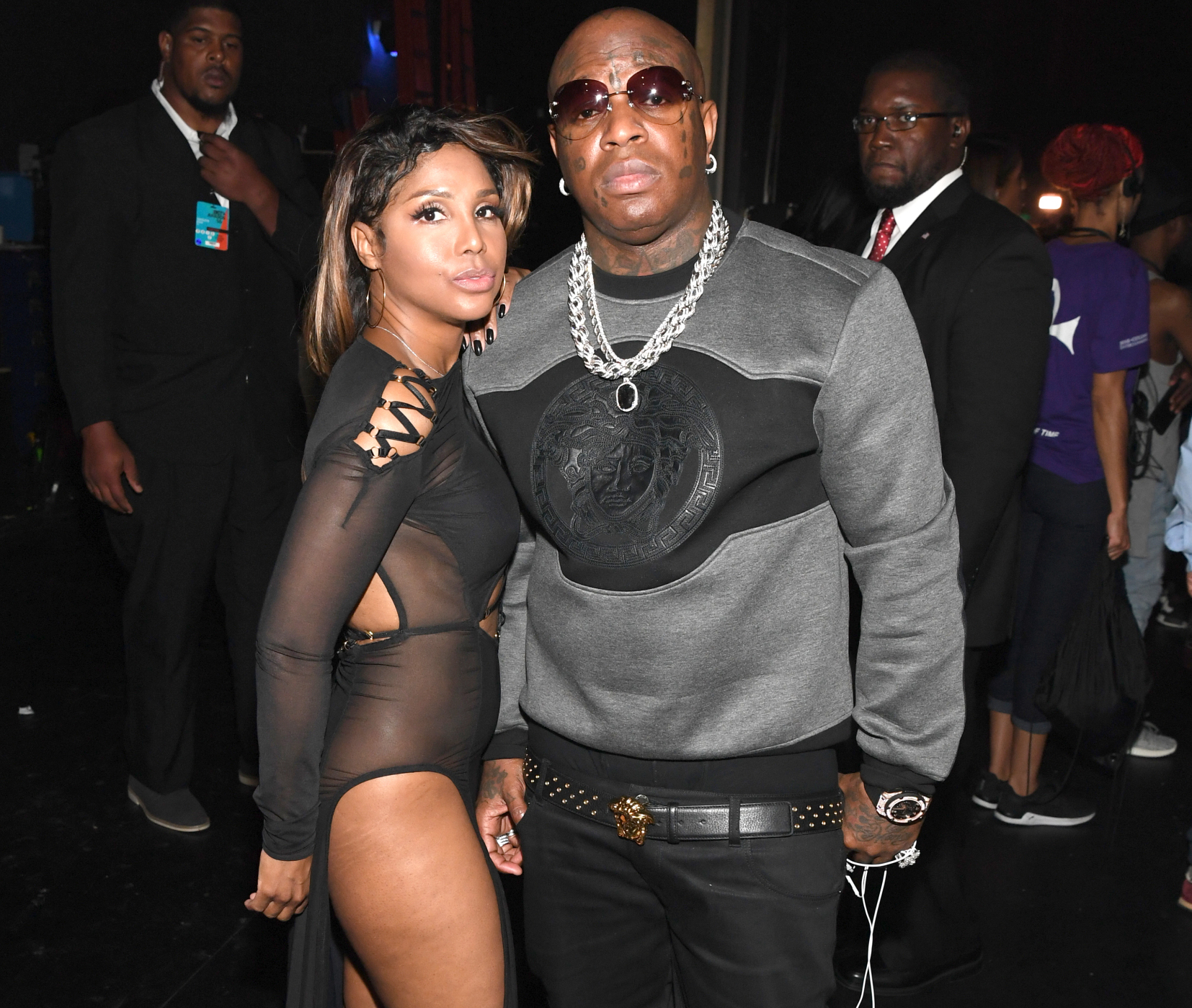 LOS ANGELES, CA - JUNE 26: Singer Toni Braxton (L) and recording artists Birdman attend the 2016 BET Awards at the Microsoft Theater on June 26, 2016 in Los Angeles, California. (Photo by Paras Griffin/BET/Getty Images for BET)