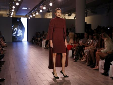 The Serena Williams Signature Statement Spring 2017 collection is modeled during Fashion Week in New York, Monday, Sept. 12, 2016. (AP Photo/Seth Wenig)
