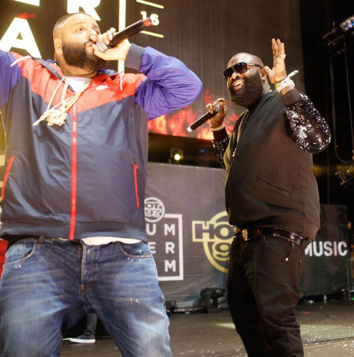 DJ Khaled and Rick Ross at Summer Jam