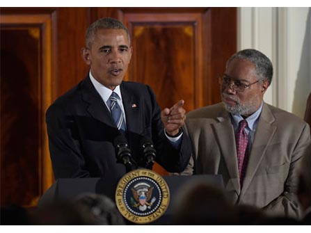 POTUS and Lonnie Bunch