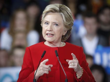Democratic presidential candidate Hillary Clinton speaks at a campaign rally at Kent State University, Monday, Oct. 31, 2016, in Kent, Ohio. (AP Photo/John Minchillo)