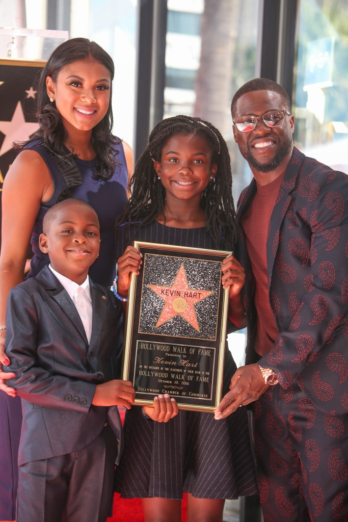 10/10/2016 - Eniko Parrish, Hendrix Hart, Heaven Hart and Kevin Hart - Kevin Hart Honored with a Star on the Hollywood Walk of Fame - Hollywood Walk of Fame - Hollywood, CA, USA - Keywords: Vertical, American actor, comedian, writer, producer, film industry, movie, television, red carpet event, Ceremony, Person, People, Celebrity, Celebrities, WOF, HWOF, Photography, Photograph, Candid, Respect, Arts Culture and Entertainment, Attending, Topix, Bestof, Los Angeles, California Orientation: Portrait Face Count: 1 - False - Photo Credit: PRPhotos.com - Contact (1-866-551-7827) - Portrait Face Count: 1
