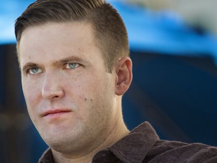 """WASHINGTON, DC - NOVEMBER 19: Richard Spencer is in town for the largest white nationalist and Alt Right conference of the year in Washington, DC on November 18, 2016. Spencer, a 38-year-old Dallas native and graduate of St. Mark's School of Texas prep school, is a key intellectual leader of the alternative right, a label he coined in 2008 to describe the radical conservative movement defined by white nationalism and a fervent resistance to multiculturalism and globalism. Spencer currently resides in the resort town of Whitefish, Montana, in what was described as a """"Bavarian-style mansion"""" in a profile in Mother Jones. He was born in Massachusetts but moved to the Preston Hollow neighborhood of Dallas when he was about 2 years old. """"It was a fairly idyllic, suburban childhood,"""" Spencer said with a laugh. """"I remember riding bikes around the neighborhood, and so on. I guess you could say I lived in a bubble to a certain extent, like a lot of the kids in that area. But it was very nice."""" (Photo by Linda Davidson/The Washington Post)"""
