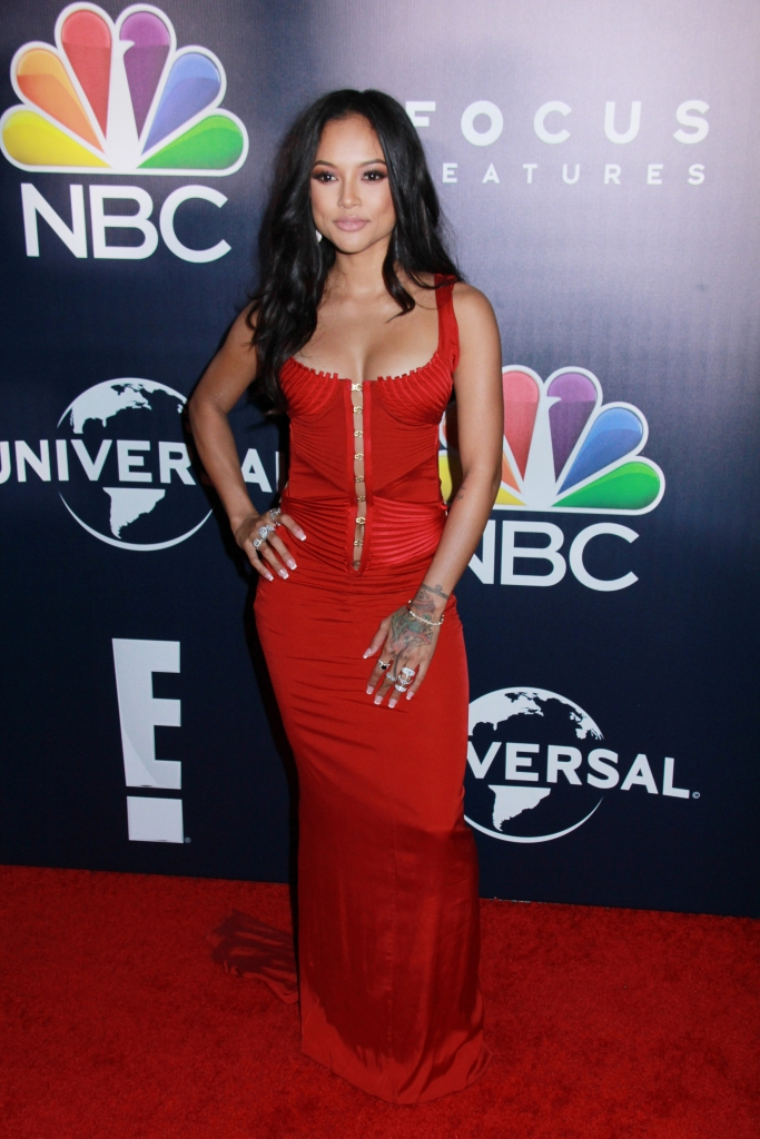 01/08/2017 - Karrueche Tran - NBCUniversal's 74th Annual Golden Globes After Party - Arrivals - Beverly Hilton Hotel - Beverly Hills, CA, USA - Keywords: Vertical, Social Event, Portrait, Photography, Arts Culture and Entertainment, Attending, Celebrities, Celebrity, Person, People, Topix, Bestof, 74th Golden Globe Awards, 74th Annual Golden Globe Awards NBCUniversal After Party, Afterparty, Los Angeles, California Orientation: Portrait Face Count: 1 - False - Photo Credit: Izumi Hasegawa / PRPhotos.com - Contact (1-866-551-7827) - Portrait Face Count: 1