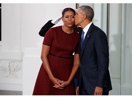 Barack and Michelle walked off into the sunset after 8 years in the White House.