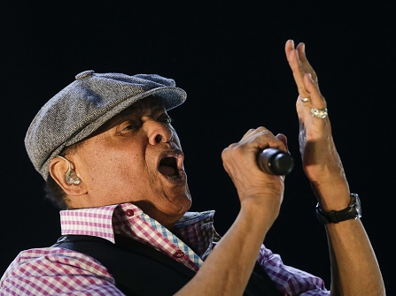 FILE - In this Sept. 27, 2015, file photo, Al Jarreau performs at the Rock in Rio music festival in Rio de Janeiro, Brazil. Jarreau announced on his website Feb. 7, 2017, that he has been forced to retire from touring due to exhaustion. (AP Photo/Felipe Dana, File)