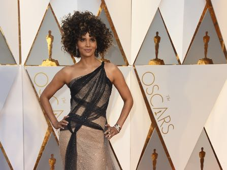 Halle Berry arrives at the Oscars on Sunday, Feb. 26, 2017, at the Dolby Theatre in Los Angeles. (Photo by Jordan Strauss/Invision/AP)