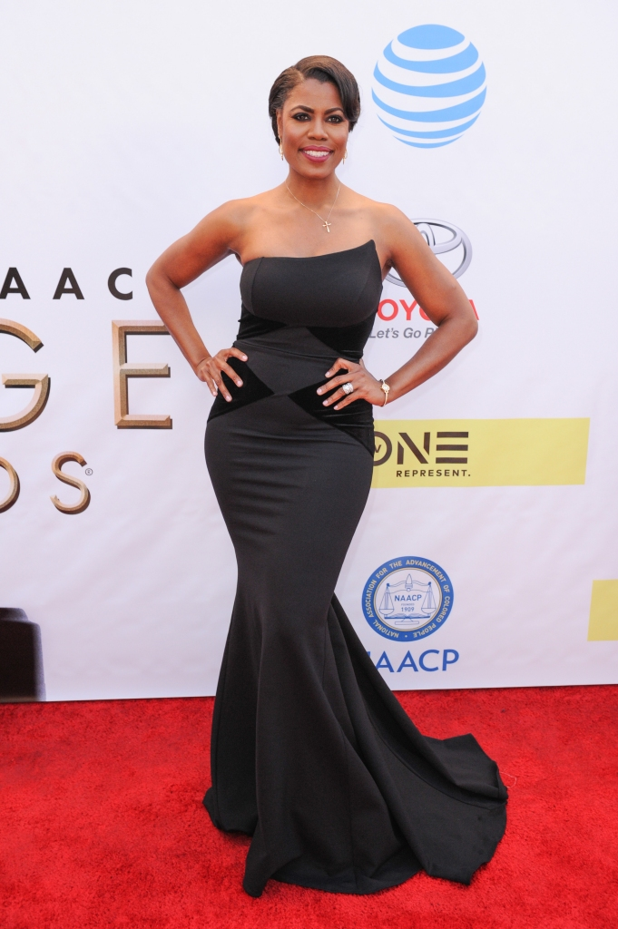02/11/2017 - Omarosa Manigault - 48th Annual NAACP Image Awards - Arrivals - Pasadena Civic Center - Pasadena, CA, USA - Keywords: full length, dress, tv personality Orientation: Portrait Face Count: 1 - False - Photo Credit: Aaron J. Thornton / PR Photos - Contact (1-866-551-7827) - Portrait Face Count: 1