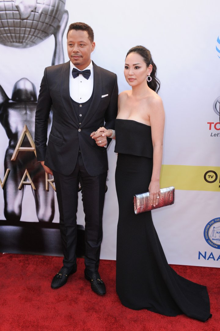 Terrence Howard and his wife