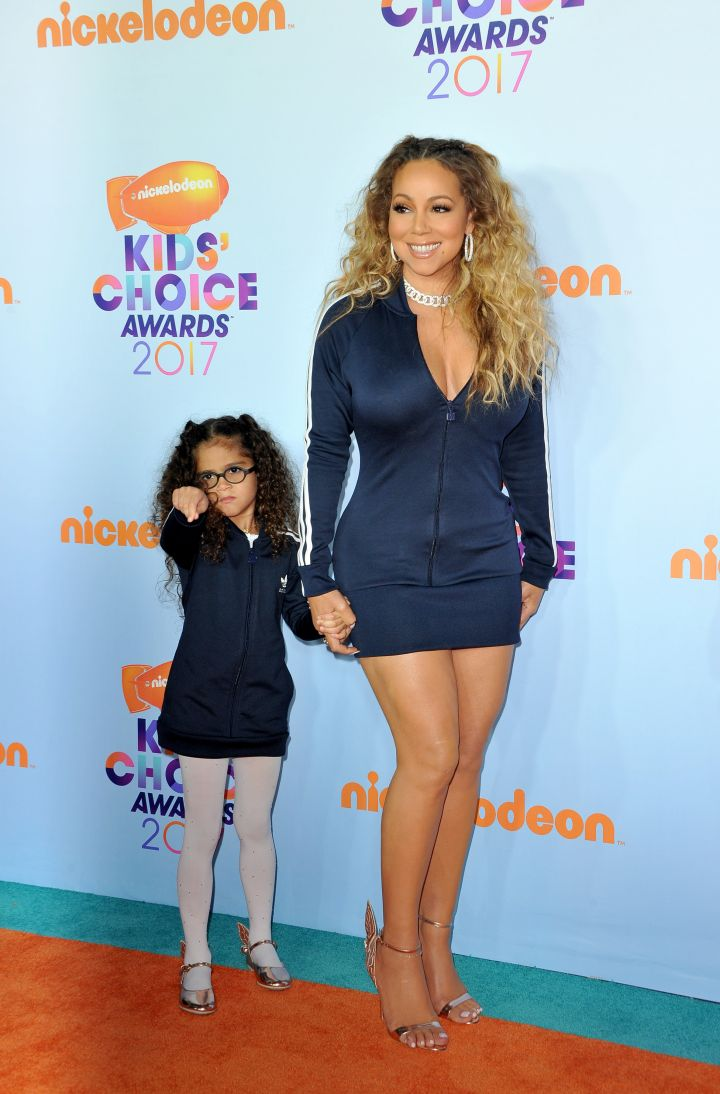 Mariah Carey and her daughter