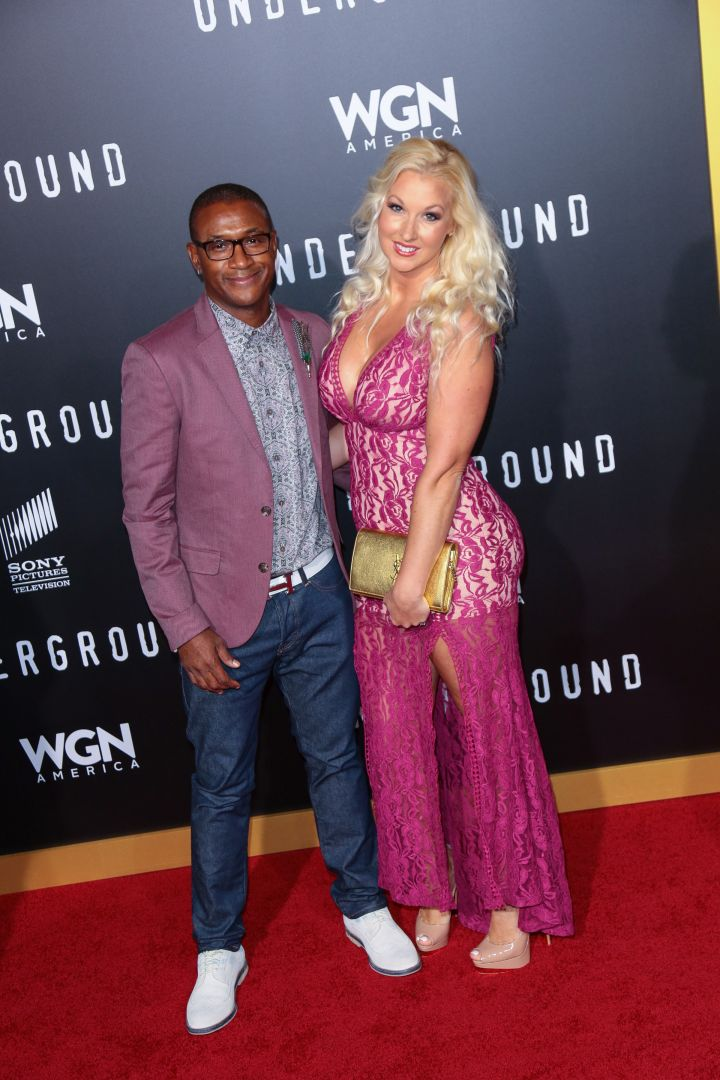 Tommy Davidson and his wife.