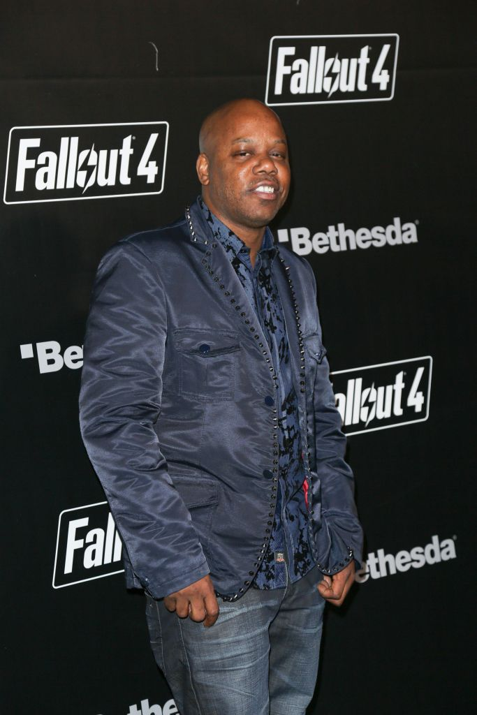 """11/05/2015 - Too Short - """"Fallout 4"""" Video Game Launch Party - Arrivals - Downtown Los Angeles - Los Angeles, CA, USA - Keywords: American rapper, producer, actor, Too $hort, Todd Shaw, Todd Anthony Shaw, vertical, attendees, Arrival, Event, celebration, open world action role-playing video game, Bethesda Game Studios, Bethesda Softworks, PlayStation 4, Xbox One, Microsoft Windows, gaming, Arts Culture and Entertainment, Celebrity, Celebrities, Person, People, California Orientation: Portrait Face Count: 1 - False - Photo Credit: Guillermo Proano / PR Photos - Contact (1-866-551-7827) - Portrait Face Count: 1"""