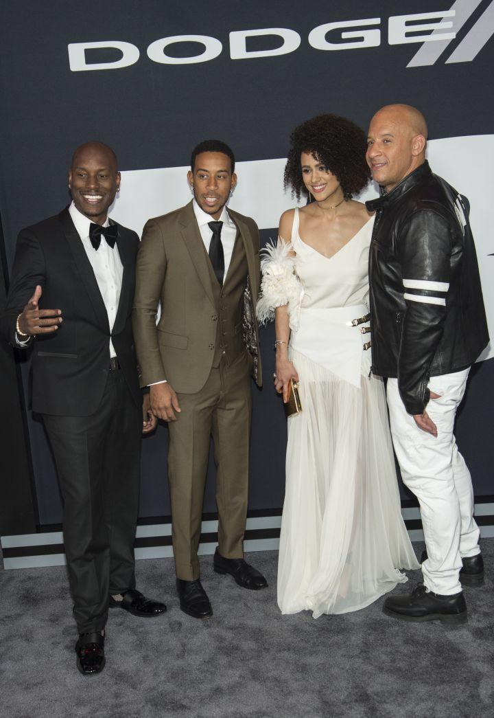 Tyrese, Ludacris, Nathalie Emmanuel, Vin Diesel