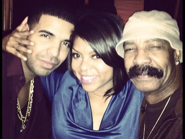 Drake, Taraji P. Henson and Drake's father, Dennis Graham
