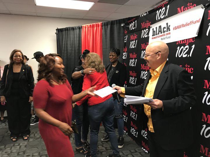 Tom Joyner Donates $50,000 to 50 Houston Families Affected by Hurricane Harvey