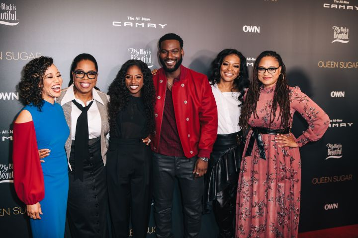Dawn Lyen Gardner, Oprah, Rutina Wesley, Kofi Siriboe, Tina Lifford and Ava DuVernay